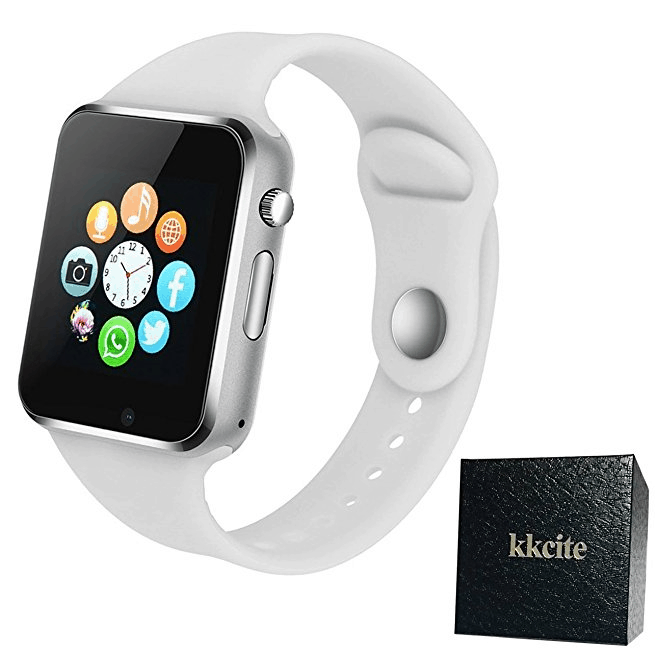 Smart Watch KKCITE Sweatproof Bluetooth Smartwatch Phone With SIM 2G GSM for Samsung Nexus6 Htc Sony and Android Smartphones Support Sleep Monitor, Push Message, Camera Unlocked Watch Men Women Kids