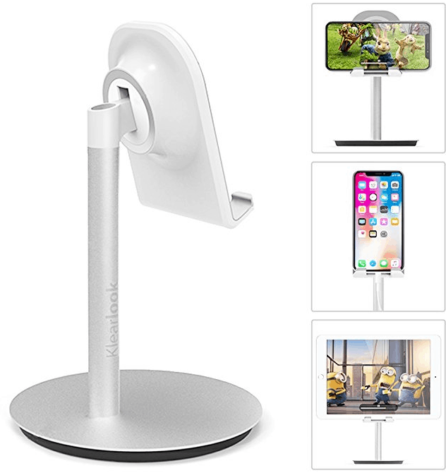 Klearlook Adjustable Cell Phone Stand Tablet Holder For iPhone 8 X