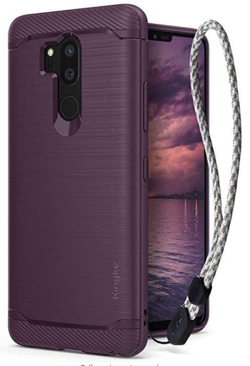 LG G7_LG G7 ThinQ Case, Ringke [Onyx] Brushed Metal Design [Flexible & Slim] Dyn