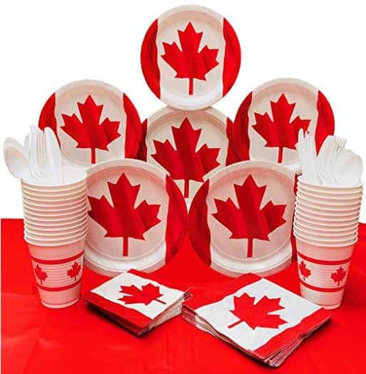 Canada Day Decorations - Canada Day Party Supplies - Waving Canadian Flag Themed