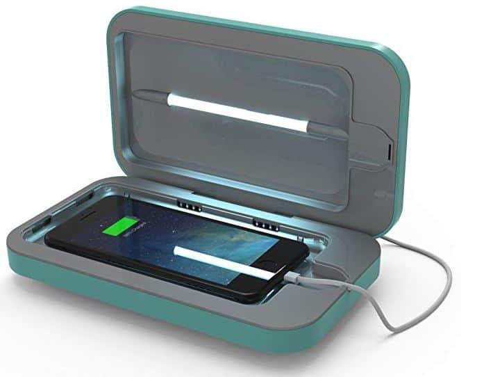 Phonesoap 3.0 – Téléphone Sanitizer et chargeur universel, Aqua