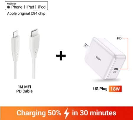 iPhone Charger Fort Saskatchewan – SabreCharge USB C Fast Charger 18W Wall Plug Travel Quick Type C