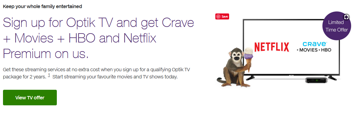 Sign Up to Optik TV